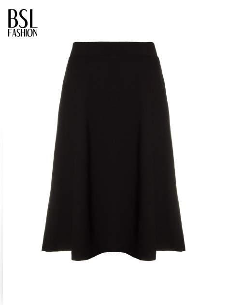 Czarna spódnica midi w kształcie litery A                                  zdj.                                  5
