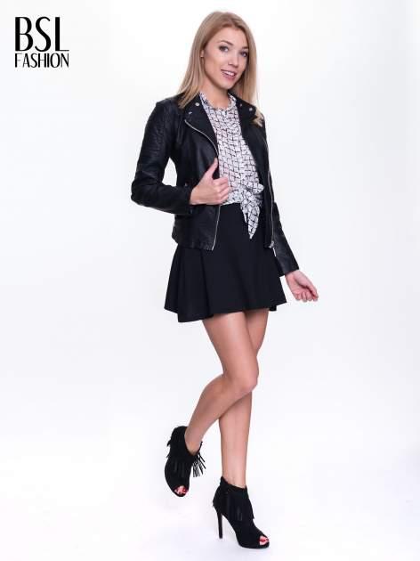 Czarna spódnica mini typu skater                                  zdj.                                  2