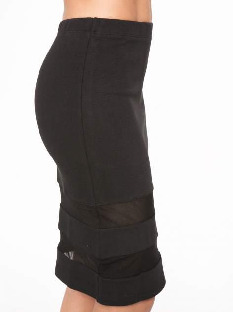 Czarna spódnica tuba z transparentnymi panelami                                  zdj.                                  7