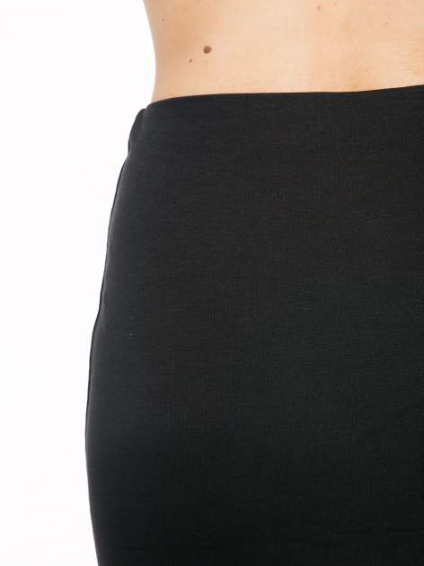 Czarna spódnica tuba z wydłużanym tyłem                                  zdj.                                  6