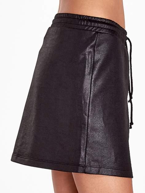 Czarna spódnica w stylu baseballowym                                  zdj.                                  6