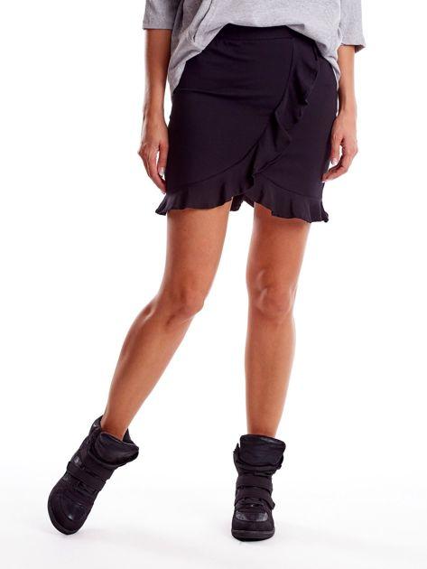 Czarna spódnica z falbaną                              zdj.                              5