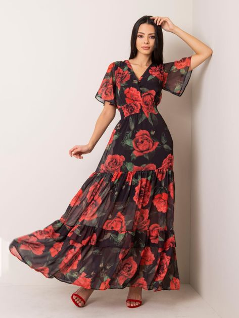 Czarna sukienka Angel
