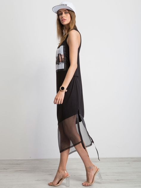 Czarna sukienka Asymetric                              zdj.                              3