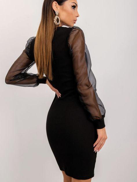 Czarna sukienka Crystal
