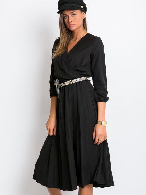 Czarna sukienka Gingham                              zdj.                              3