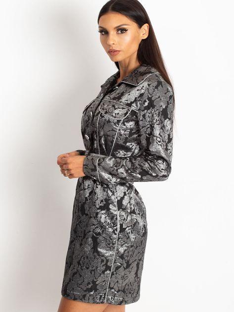 Czarna sukienka Moderne                              zdj.                              3