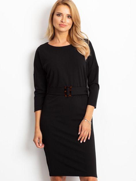 Czarna sukienka Reflect