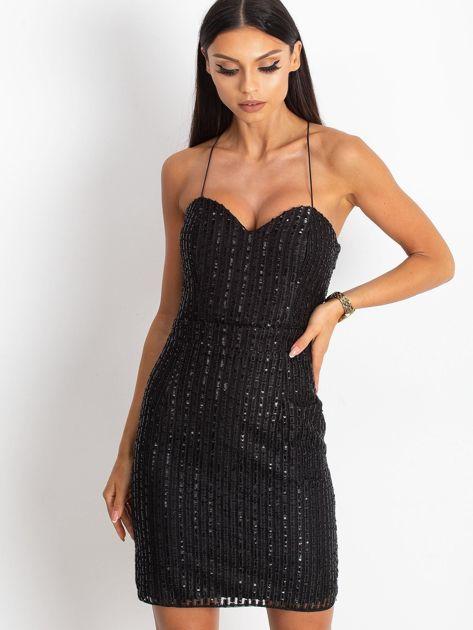 Czarna sukienka Sequin                              zdj.                              1