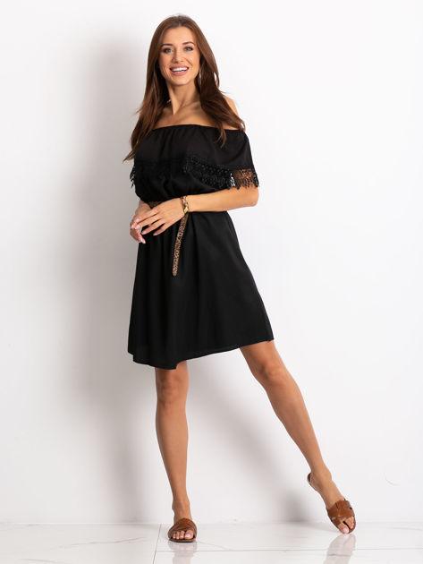 Czarna sukienka Serenity                              zdj.                              4
