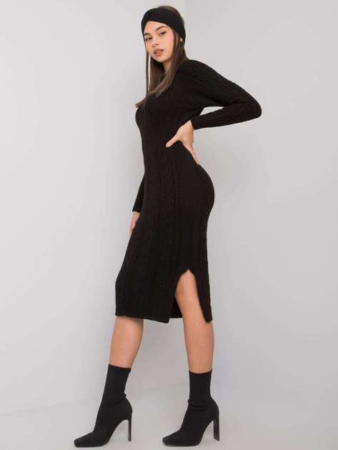 Czarna sukienka dzianinowa Ellada RUE PARIS