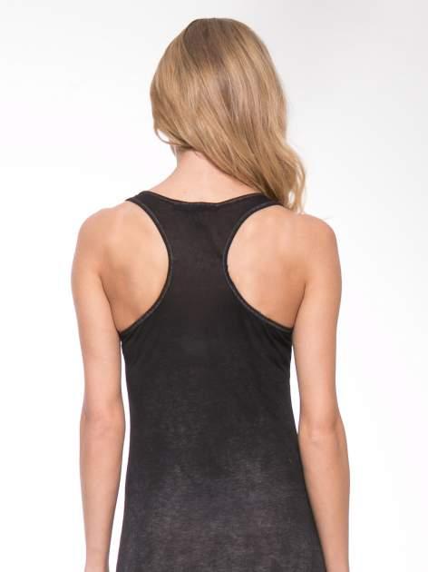 Czarna sukienka maxi z efektem sprania                                  zdj.                                  6