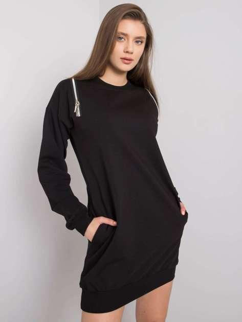 Czarna sukienka na co dzień Emina RUE PARIS