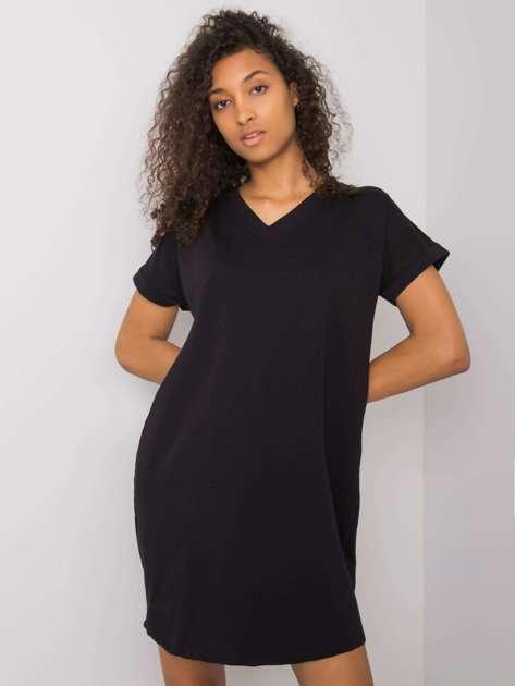 Czarna sukienka na co dzień Tillie RUE PARIS