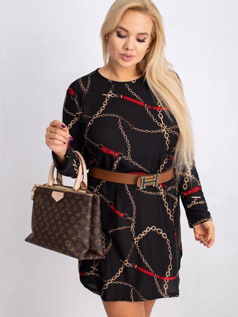 Czarna sukienka plus size Sunny                              zdj.                              1