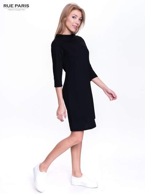 Czarna sukienka retro z półgolfem                                  zdj.                                  4