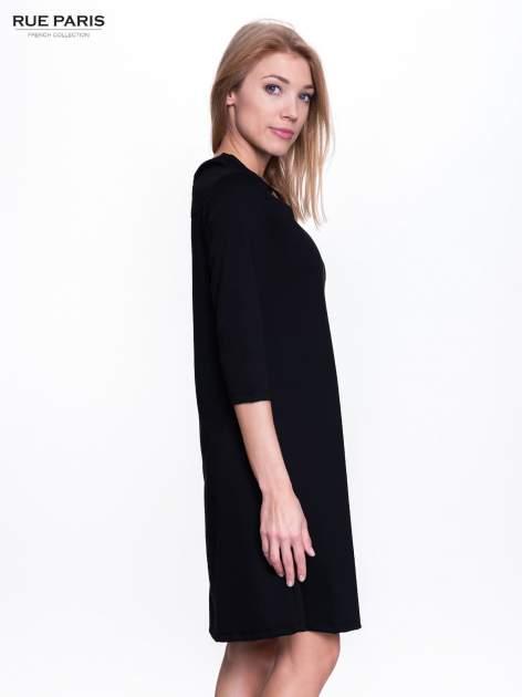 Czarna sukienka retro z półgolfem                                  zdj.                                  3