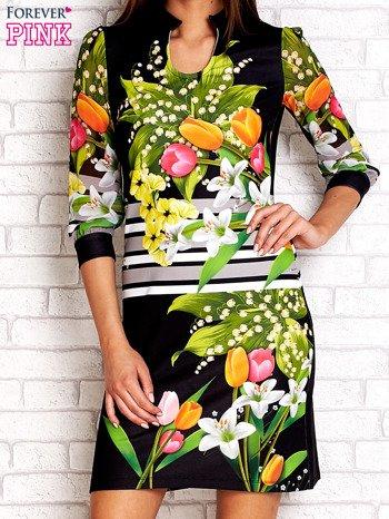 Czarna sukienka w kwiaty                                  zdj.                                  1