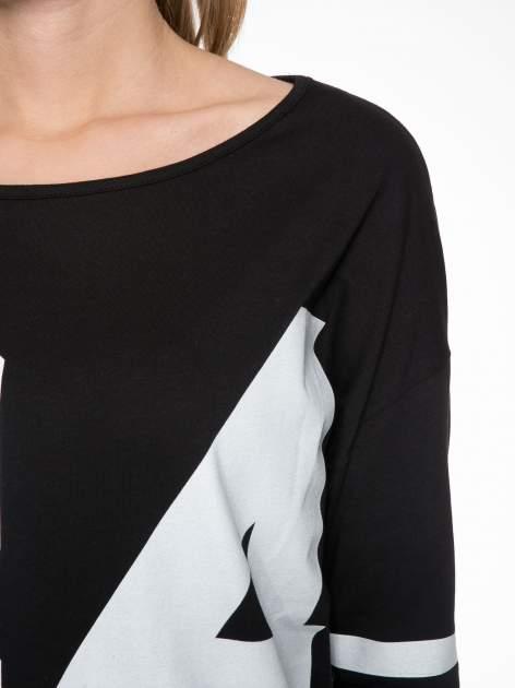 Czarna sukienka z numerem w stylu baseball dress                                  zdj.                                  5