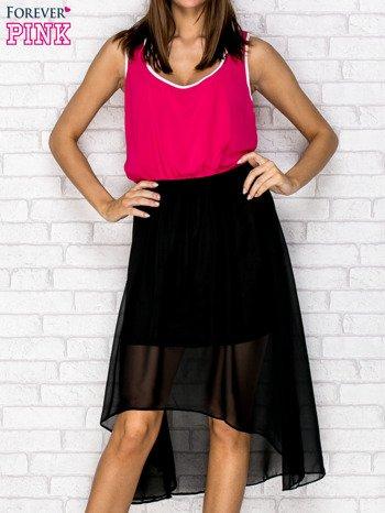 Czarna tiulowa sukienka z krzyżowanymi plecami
