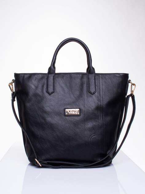 Czarna torba damska do ręki                                  zdj.                                  1