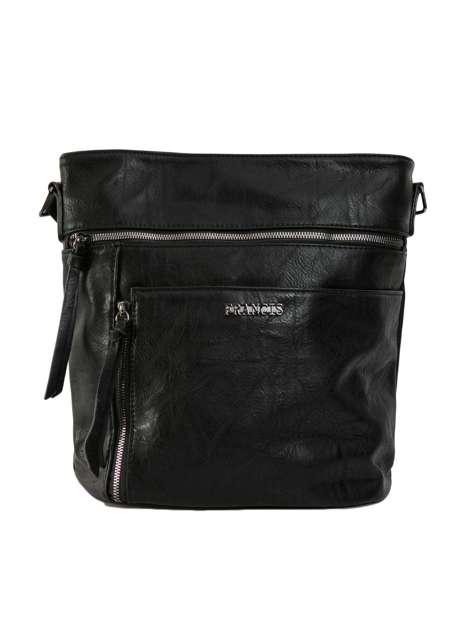 Czarna torba damska z ekoskóry