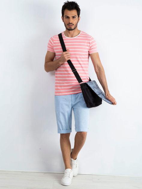 Czarna torba męska na ramię z klapką                              zdj.                              4