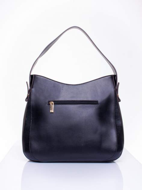 Czarna torba miejska two tone                                  zdj.                                  4