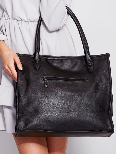 Czarna torba na ramię w miejskim stylu                                  zdj.                                  6