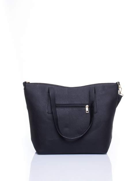 Czarna torba na ramię ze złotym emblematem                                  zdj.                                  3