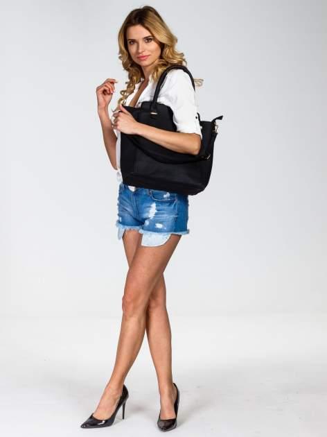 Czarna torba shopper bag                                  zdj.                                  6