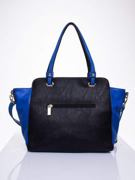 Czarna torba shopper bag z ozdobnymi ćwiekami                                  zdj.                                  2