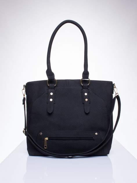 Czarna torba shopper bag z suwakiem