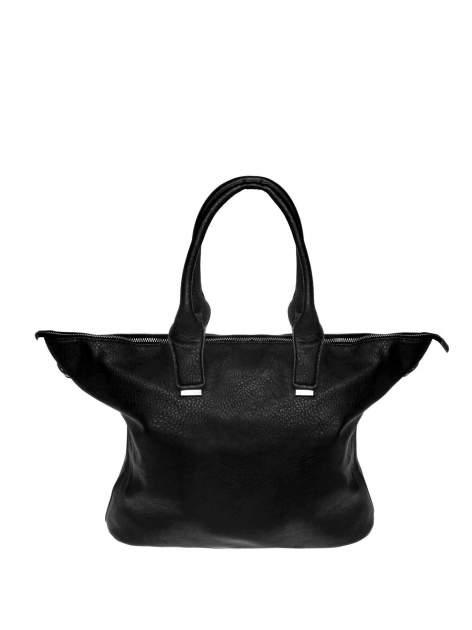Czarna torba shopper bag ze złotymi detalami                                  zdj.                                  1