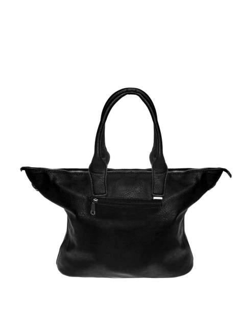 Czarna torba shopper bag ze złotymi detalami                                  zdj.                                  2