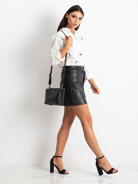 Czarna torebka damska ze skóry naturalnej                              zdj.                              4