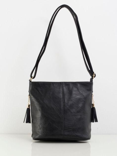 Czarna torebka faux leather