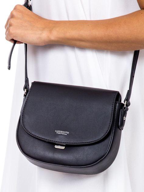 bc265d6e6c659 Czarna torebka listonoszka ze skóry ekologicznej - Akcesoria torba ...