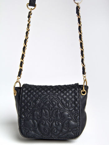 Czarna torebka na ramię na pasku łańcuszku                                  zdj.                                  3