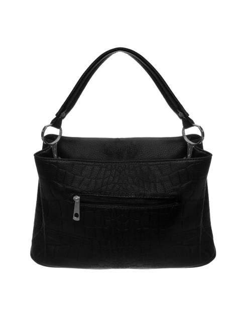 Czarna torebka na ramię tłoczona na wzór skóry krokodyla                                  zdj.                                  2