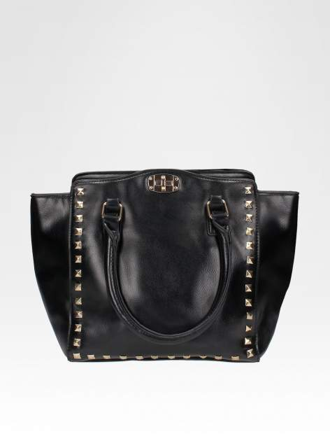 Czarna torebka na ramię z dżetami                                  zdj.                                  1