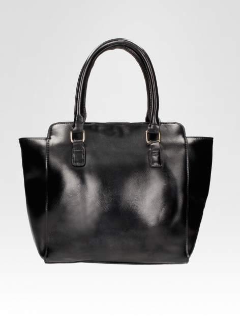 Czarna torebka na ramię z dżetami                                  zdj.                                  6