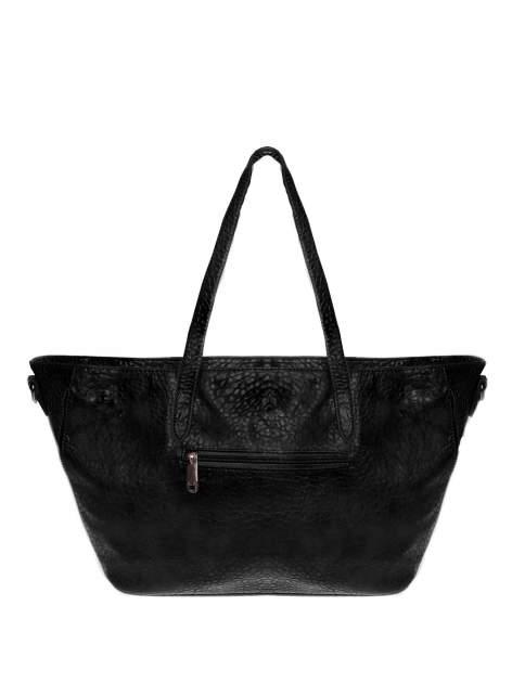Czarna torebka shopper bag z apaszką                                  zdj.                                  2