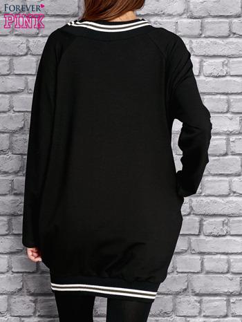 Czarna tunika ze sztrasami                                  zdj.                                  4