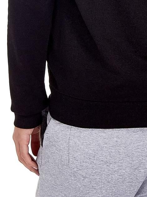 Czarna zasuwana bluza z kapturem z nadrukiem numerycznym                                  zdj.                                  6