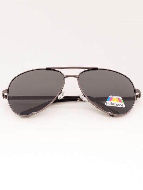Czarne Okulary Przeciwsłoneczne POLARYZACYJNE Pilotki Aviatory                              zdj.                              1