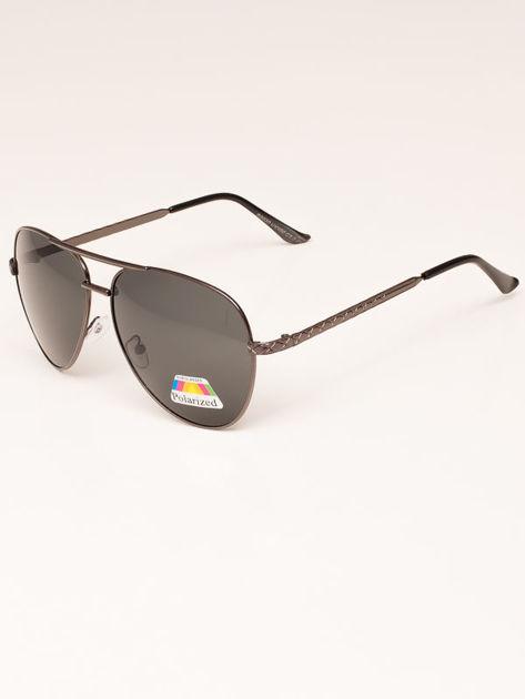 Czarne Okulary Przeciwsłoneczne POLARYZACYJNE Pilotki Aviatory                              zdj.                              3