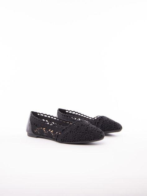 483f409e Czarne ażurowe baleriny Coura - Buty Balerinki - sklep eButik.pl