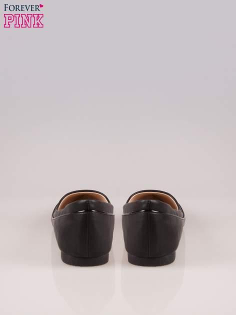 Czarne baleriny z noskiem w szpic                                  zdj.                                  3