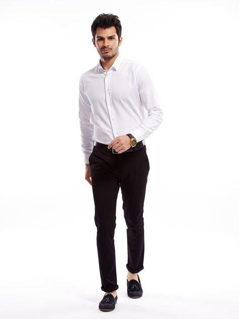 Czarne bawełniane spodnie męskie                               zdj.                              10